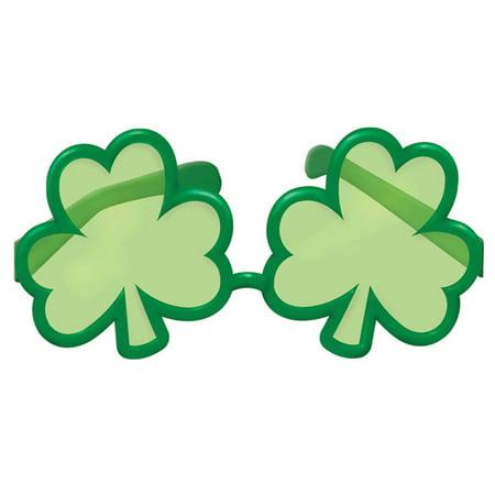 St. Patrick's Day Shamrock Shaped (Sunglasses Wholesale)