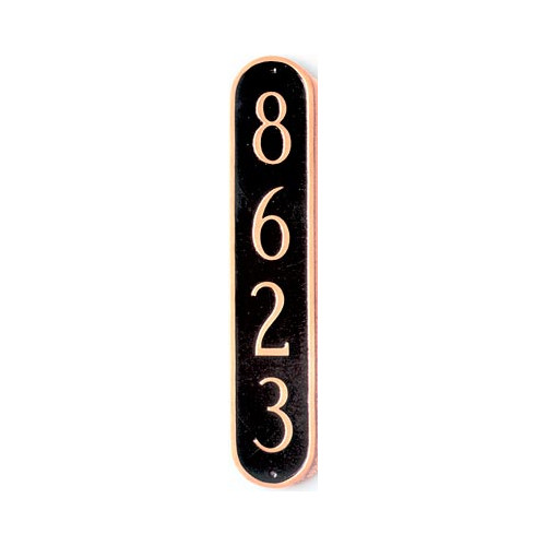 Montague Metal Products Inc. Oblong Column Address Plaque