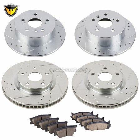 Front Rear Brake Pads And Rotors Kit For Toyota Camry Avalon Lexus ES350