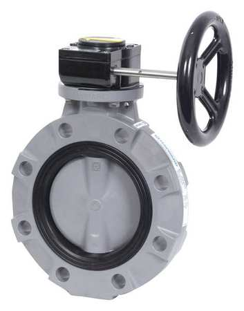GFPP Body Gear Operated 8 Size Nitrile Seals GFPP Disc Hayward BYV44080A0NG000 Series BYV Butterfly Valve