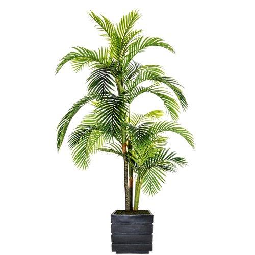 Bloomsbury Market Fiberstone Floor Palm Tree in Planter