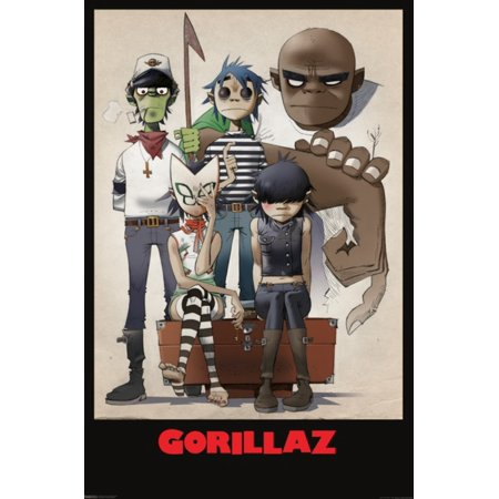 Gorillaz All Here Family Portrait Animated Rock Star Band Poster - 24x36 inch - Star Student Poster