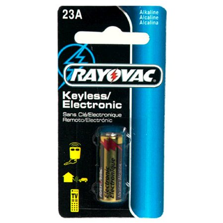 12 Volt Alkaline Keyless Entry Battery 23A Size, One Alkaline Carded 23A Size 1-Pack By Rayovac