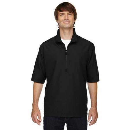 North End Ash City Men's Adjustable Shockcord Zip Front Wind Shirt (Wind City Sole)