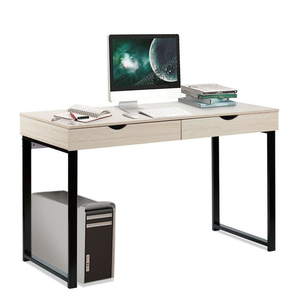Computer Table Laptop Office Desk Study Table Workstation With 2 Drawers
