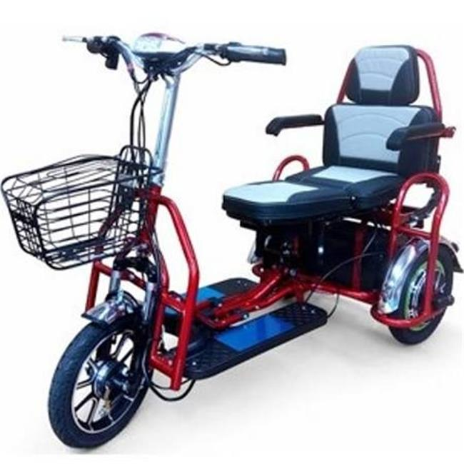 JHR Electric Field EW 02 R Folding Bariatric Scooter, Red
