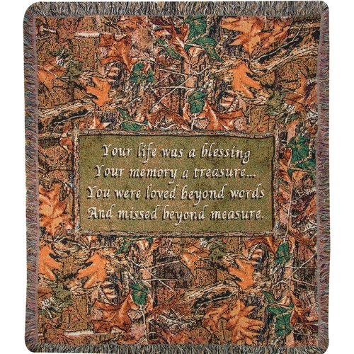 Manual Woodworkers & Weavers Camo Funeral Tapestry Cotton Throw