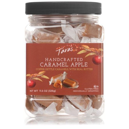 Jumbo Gourmet Caramel Apple (Tara's All Natural Handcrafted Gourmet Caramel Apple Flavored Caramels: Small Batch, Kettle Cooked, Creamy & Individually Wrapped - 11.5 Ounce)