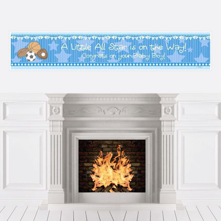 All Star Sports - Boy Baby Shower Decorations Party Banner](Sports Baby Shower)