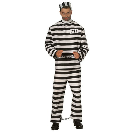 Halloween Convict Adult Costume - 60's Themed Halloween Costumes