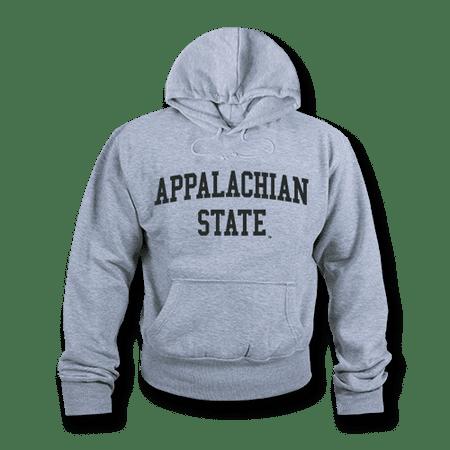 NCAA Appalachian State University Hoodie Sweatshirt Game Day Fleece Heather Grey Large (Michigan State University Fleece)