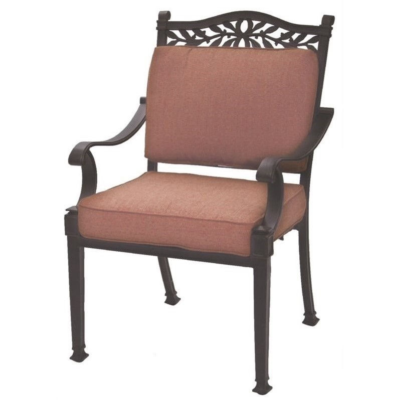 Darlee Charleston Patio Dining Chair in Antique Bronze (Set of 4)