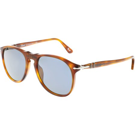 Persol Men's PO9649S-96/56-52 Brown Oval Sunglasses