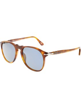 757ab3a7cd9 Product Image Persol Men s PO9649S-96 56-52 Brown Oval Sunglasses