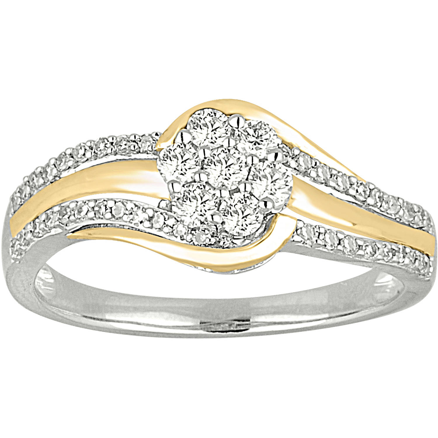 1/2 Carat T.W. Diamond 10kt Two-Tone Gold Ring