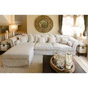 Elements Bella 2-Piece Fabric Collection in Sand Including 1 Sectional