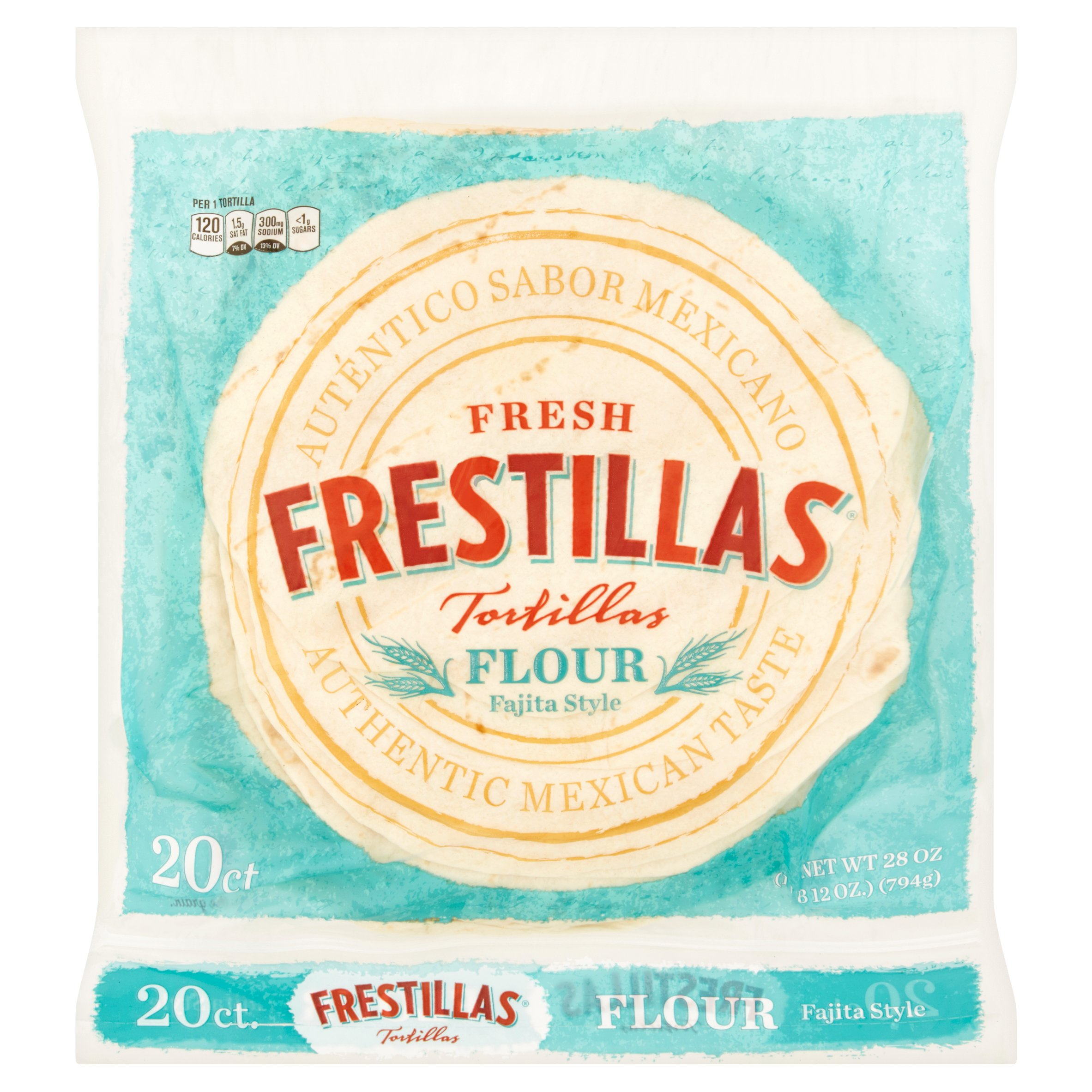 Fresh Frestillas Fajita Style Flour Tortillas, 20 count, 28 oz