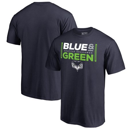 Seattle Seahawks NFL Pro Line by Fanatics Branded Alternate Team Logo Gear Blue & Green T-Shirt - College