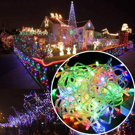 100 LED RGB Multi-Color Fairy String Lights Lamp for Xmas Tree Holiday Wedding Party Decoration Halloween Showcase Displays Restaurant or Bar and Home Garden - Control up to 8 modes (Amazon Halloween Lights)