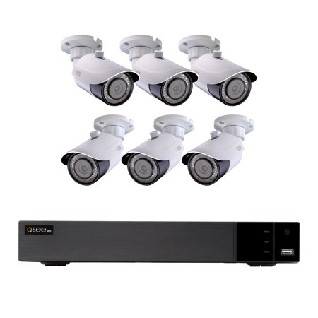 Q-See 8-Channel IP Weatherproof Surveillance 2TB NVR System with (6) 4K  Bullet Cameras, 100ft Night Vision