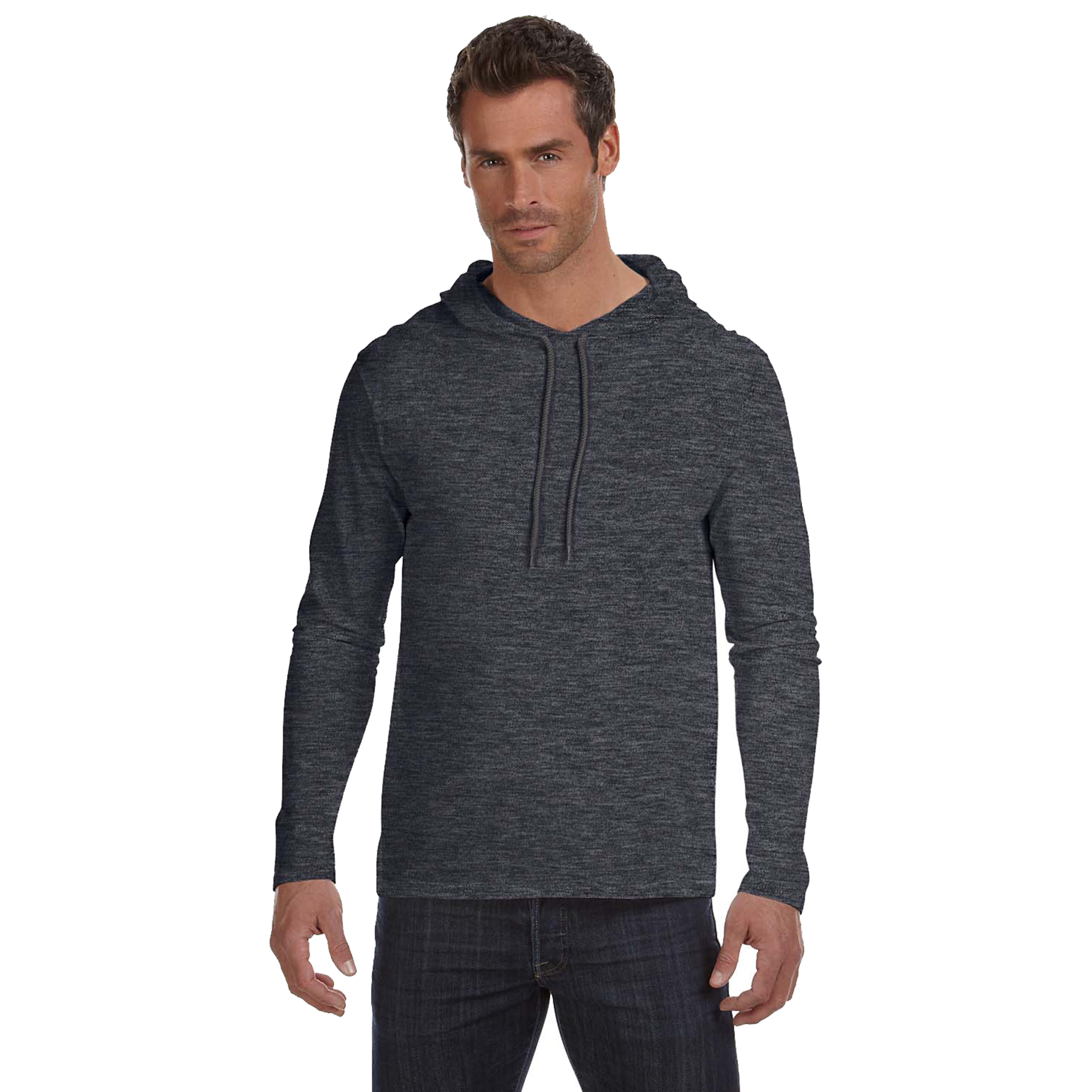 Anvil Men's Relaxed Drawcord Hooded T-Shirt