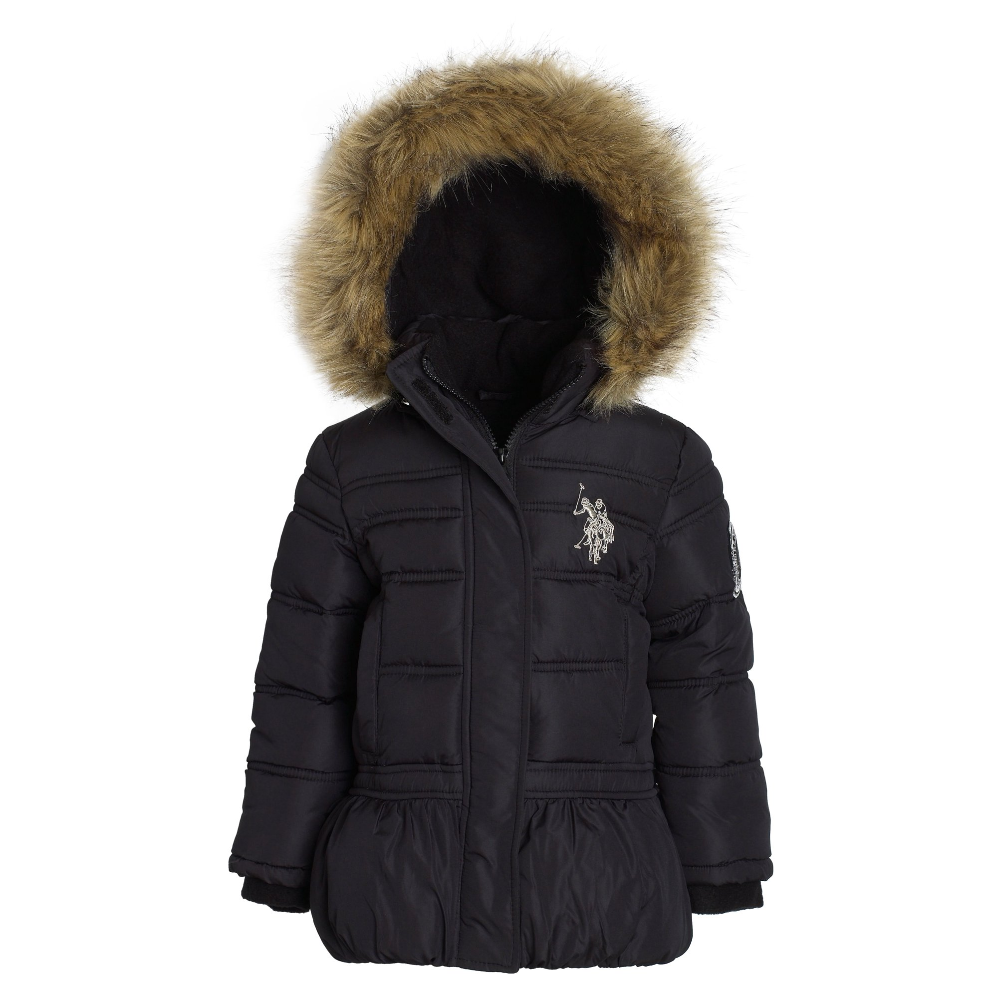 eb075cec28a Buy US Polo Assn Girls Winter Down Alternative Dressy Puffer Bubble ...