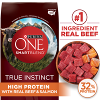 Purina ONE Natural, High Protein Dry Dog Food; SmartBlend True Instinct With Real Beef & Salmon (Various Sizes)