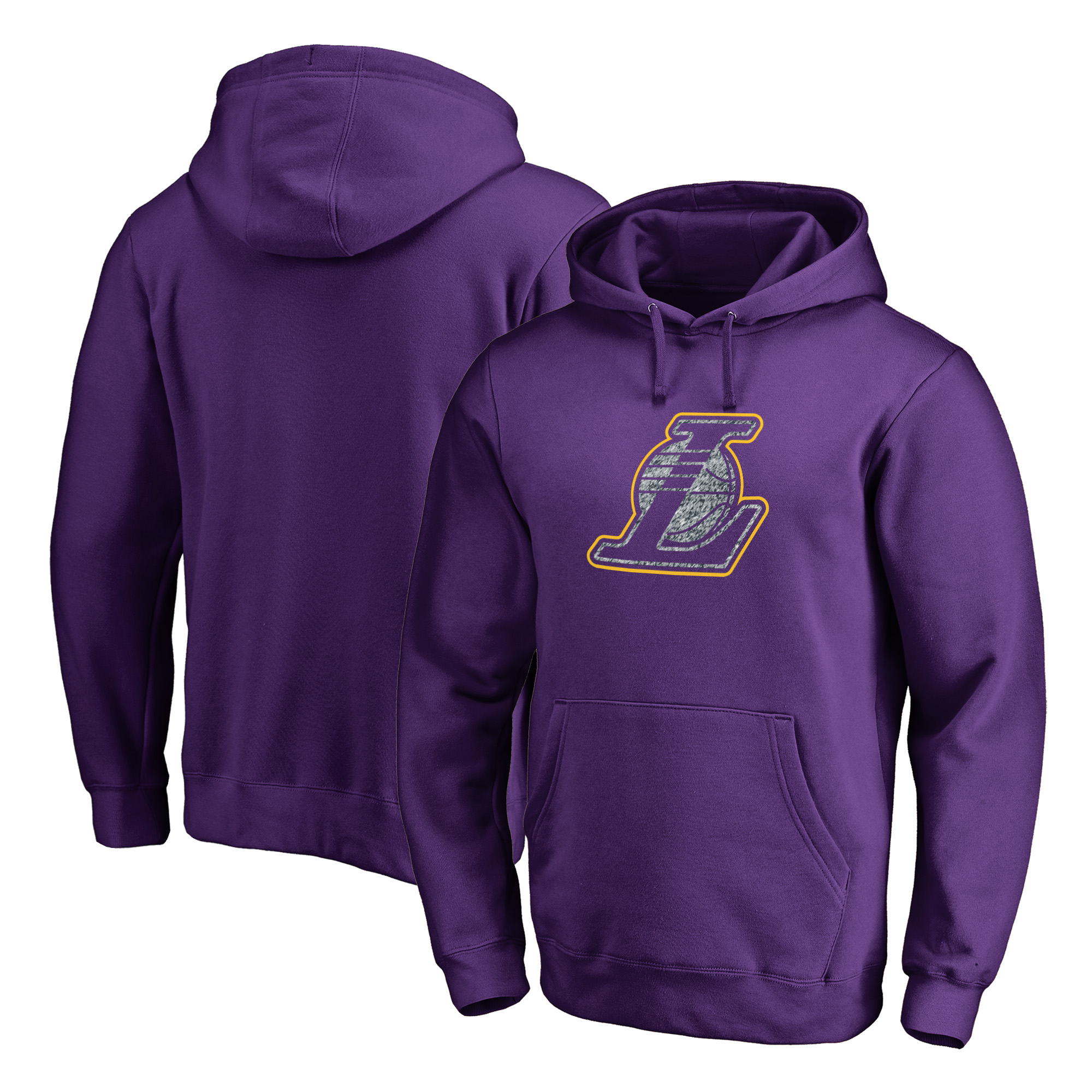 Los Angeles Lakers Fanatics Branded Static Logo Pullover Hoodie - Purple