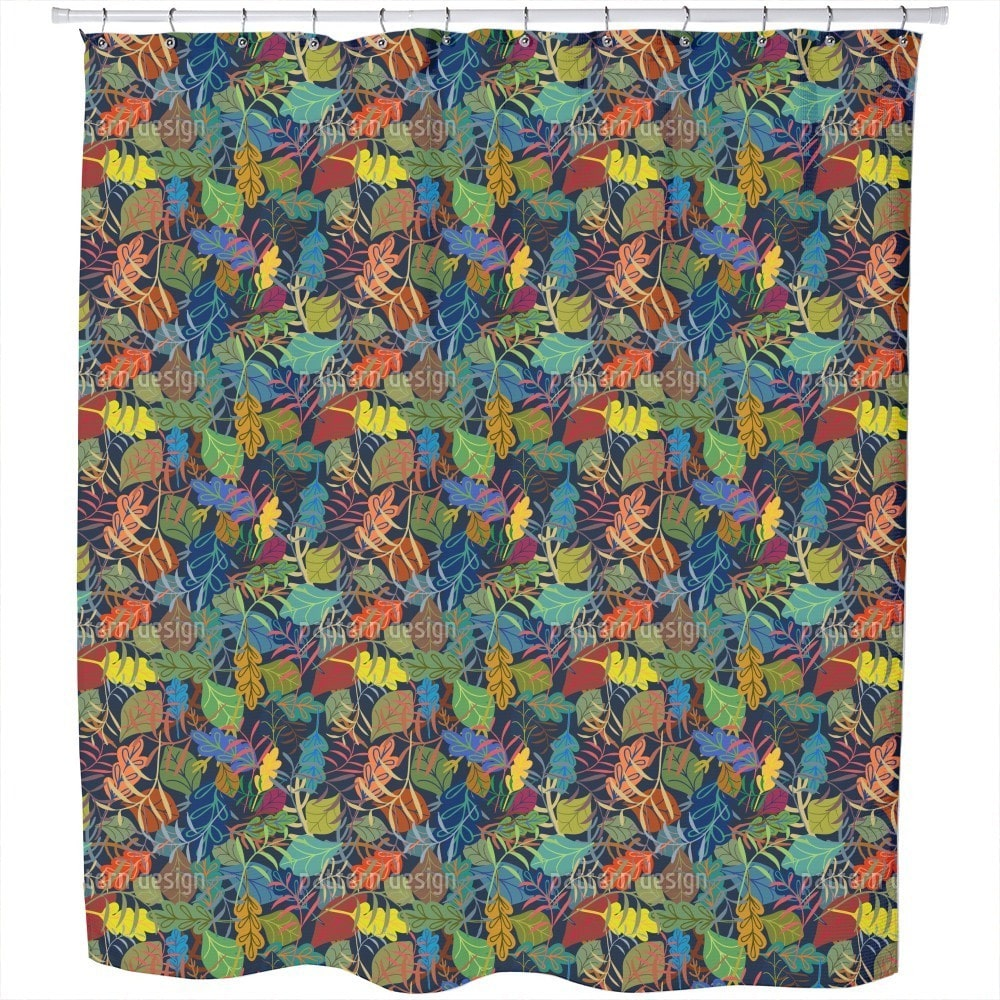 Uneekee Dreaming of Leaves Shower Curtain