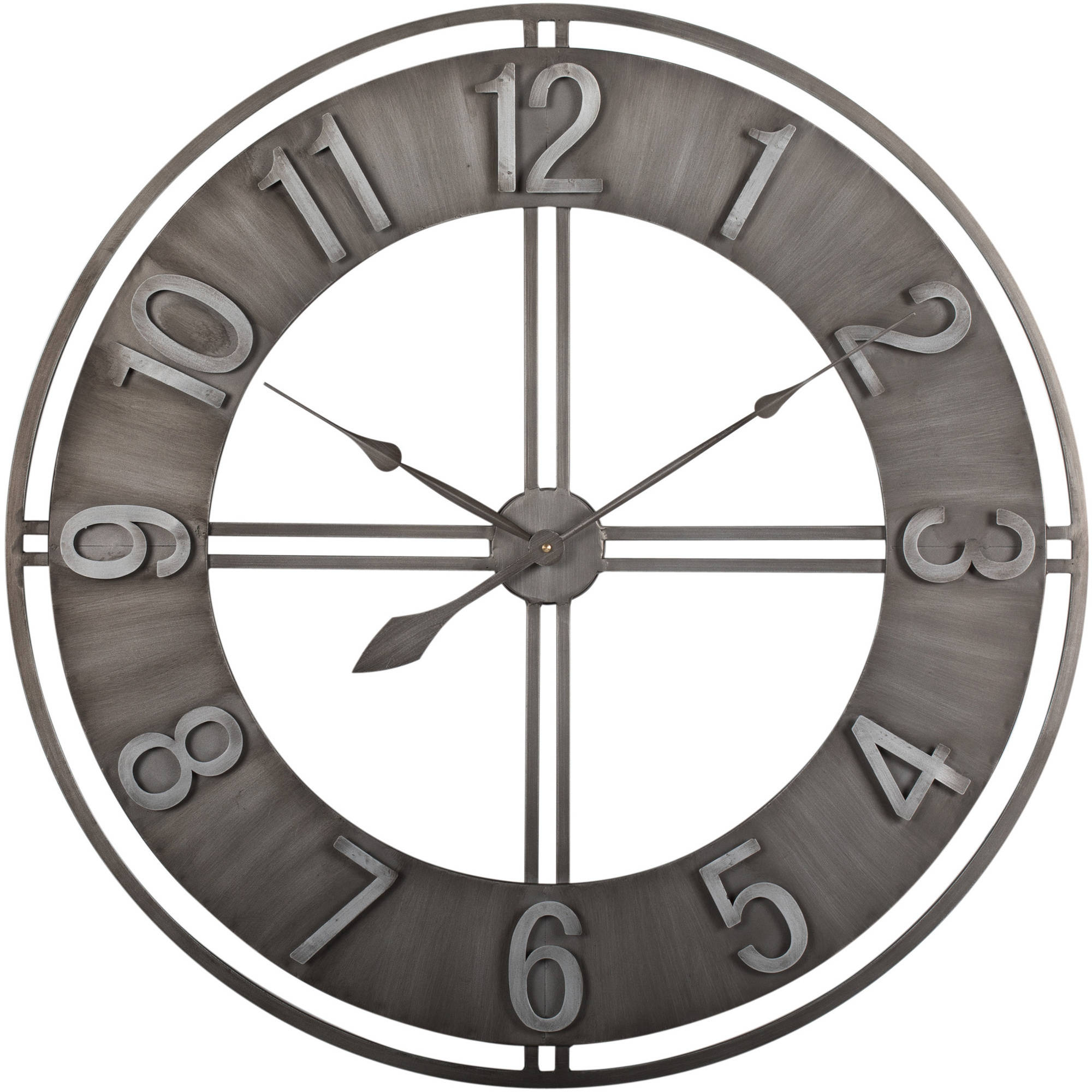 "Studio Design Home 30"" Industrial Loft Wall Clock in Metal"