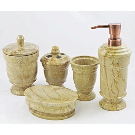 Nature home decor 540sb5 sahara beige marble bathroom for Beige bathroom set