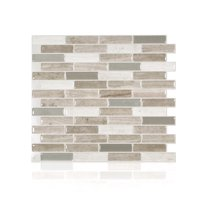 Smart Tiles 10.20 in x 9 in Peel and Stick Self-Adhesive Mosaic Backsplash Wall Tile - Milenza Vasto (4-Pack)