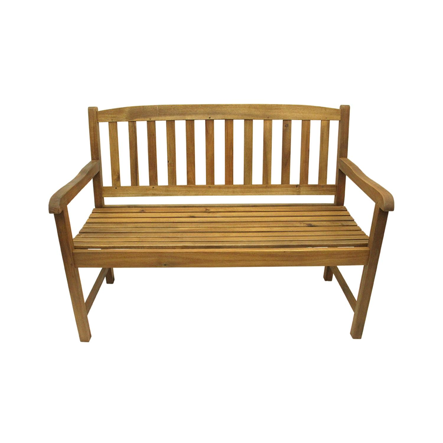 "47"" Acacia Wood Outdoor Patio Furniture Bench"