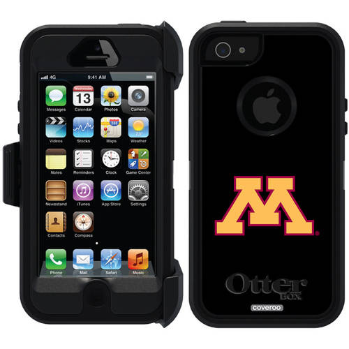 University of Minnesota Yellow M Design on OtterBox Defender Series Case for Apple iPhone 5/5s