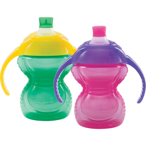 Munchkin Click-Lock Bite Proof Soft Spout Trainer Sippy Cup - 2 pack