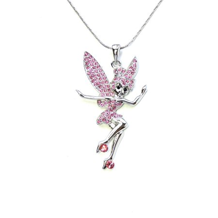 Bell Necklace (Faship Pink  Fairy Tinkerbell Pendant)