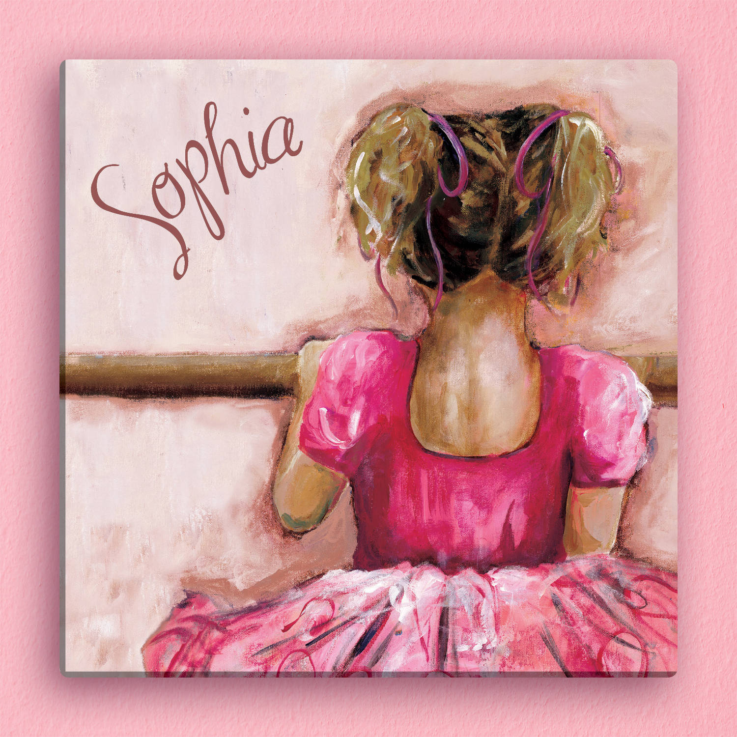"Personalized Ballerina 12"" x 12"" Canvas"