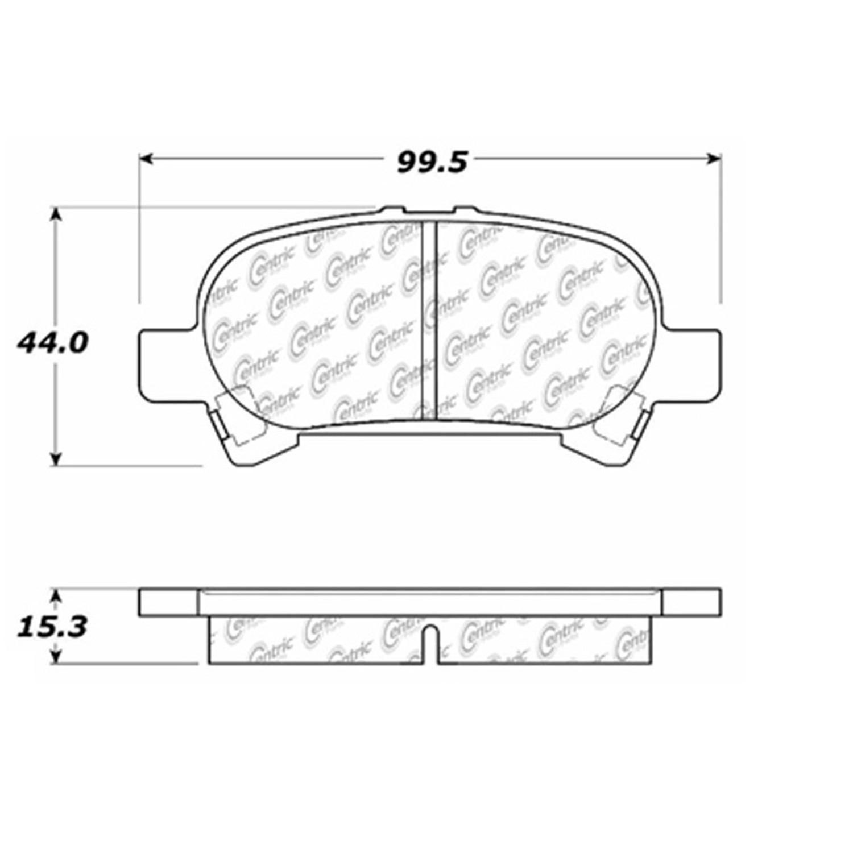 StopTech 105.08280 Disc Brake Pad; Posi-Quiet Ceramic;