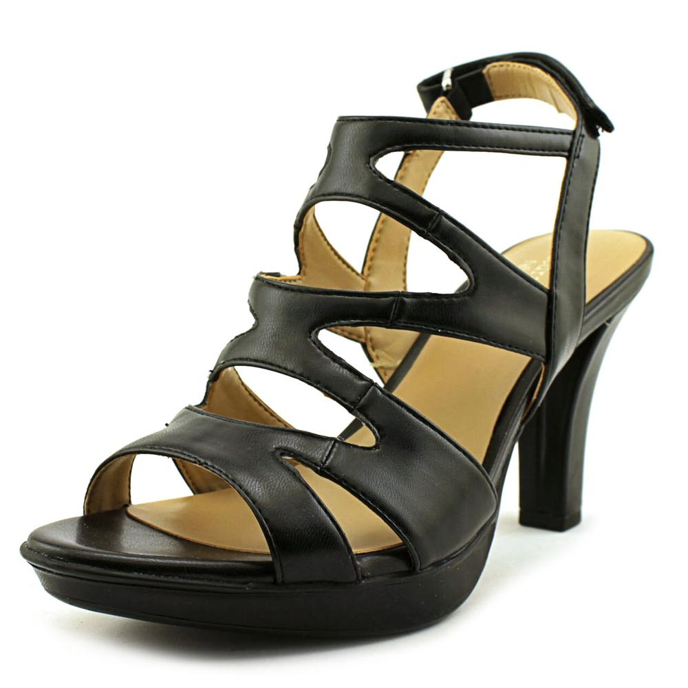 Click here to buy Naturalizer Dianna Women Open-Toe Synthetic Black Slingback Sandal by Naturalizer.