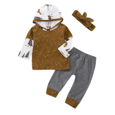 Baby Boy Clothes Set Infant Baby Boys Xmas Trees Hoodied Top and Pants Set Baby Boy Christmas Set Xmas Outfit - Christmas Outfit Boys