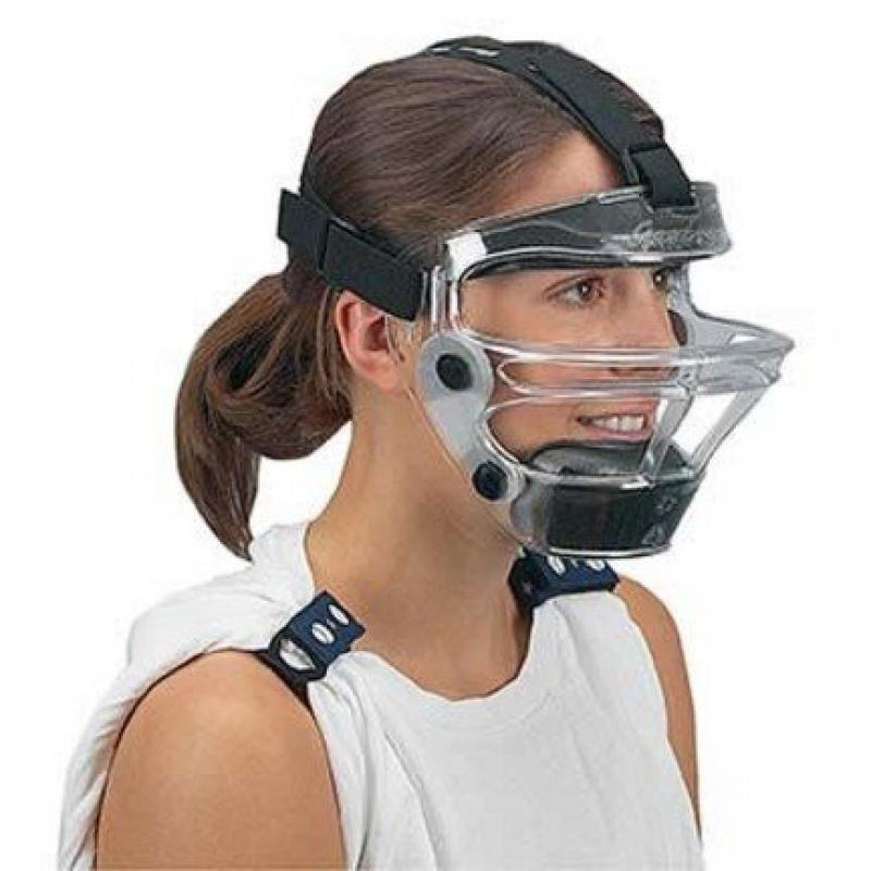 Game Face Medium Clear Sports Safety Mask with Black T-Harness by
