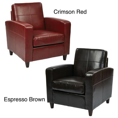 Ave Six Venus Club Chair in Environmentally Friendly Eco Leather & Solid Wood Legs Espresso Brown