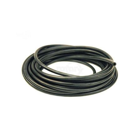 Fuel hose black rubber.  ID 3mm, OD 5.7mm, 25 ft. roll. (0.240