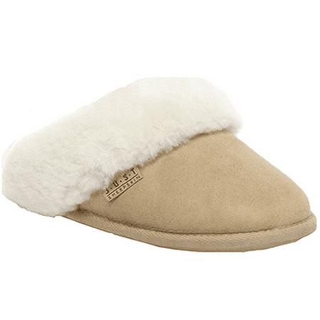 4c72da197db65 Isotoner - JUST Sheepskin Ladies Duchess Sheepskin Slippers Beige, Size 5-6  - Walmart.com