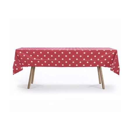 54 Quot X 108 Quot Red Polka Dot Rectangular Plastic Table Cover