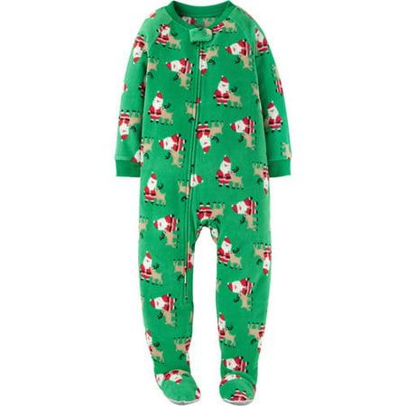 1e46a78c1 Child of Mine by Carter's - Carters Infant & Toddler Boys Santa Claus  Christmas Fleece Pajama Sleeper - Walmart.com