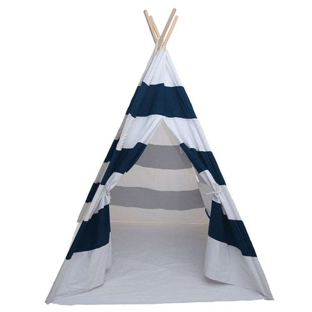 Teepee Tent for Kids Portable Children Play Tent Fort Canvas Canopy Playhouse with Carry Bag for Indoor Outdoor (Canape Fork)