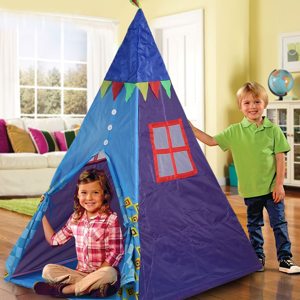 Kids Girls Boys Play Tent Indoor Playhouse Outdoor Children House Portable Foldable Toy Fun Great Gifts