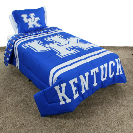 Kentucky Wildcats Reversible Reversible Comforter Set With Sham