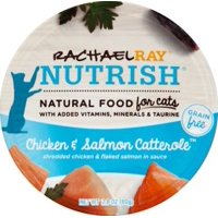 Rachael Ray Nutrish Grain Free Chicken & Salmon Catterole Natural Wet Cat Food, 2.8 oz. Cups